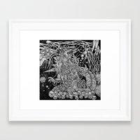 godzilla Framed Art Prints featuring Godzilla by Walid Aziz