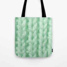 Light Green Wool Knitting Texture Tote Bag