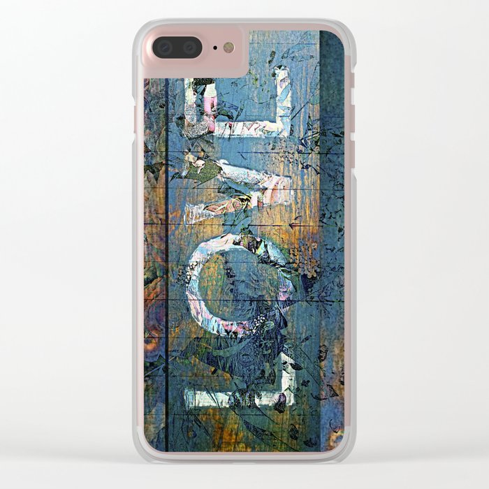 Rough Love Clear iPhone Case