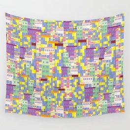 Building Pixel Blocks Wall Tapestry