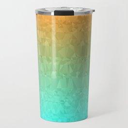 Blue and Orange Ombre - Flipped Travel Mug