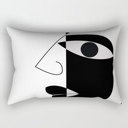 Black and white face Rectangular Pillow