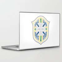 brazil Laptop & iPad Skins featuring Brazil Crest by George Williams