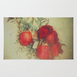 Vintage Red Roses Rug