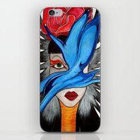 goddess iPhone & iPod Skins featuring Goddess by Miss Midnight
