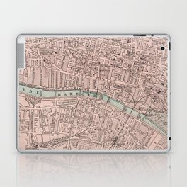 Vintage Map of Glasgow Scotland (1901) Laptop & iPad Skin