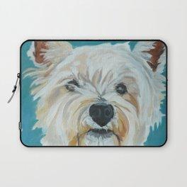 Jesse the Beautiful West Highland White Terrier Dog Portrait Laptop Sleeve