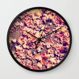 leaves at my feet Wall Clock