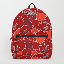 Pomegranate Harvest with Fruit and Seeds Backpack