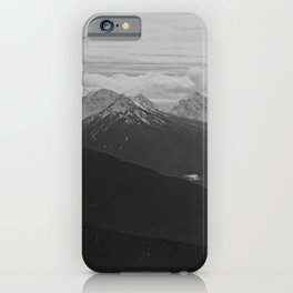 Mountain Landscape Black and White iPhone Case