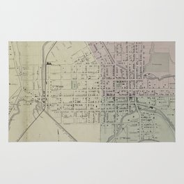 Vintage Map of Ithaca NY (1866) Rug