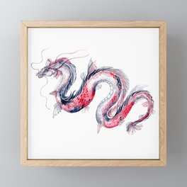 Koi Dragon Framed Mini Art Print