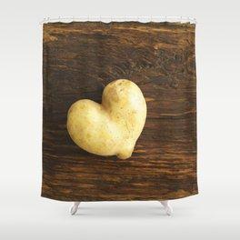 Heart shaped potato Shower Curtain