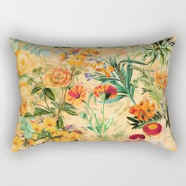Vintage & Shabby Chic -  Sunny Gold Botanical Flowers Summer Day Rectangular Pillow