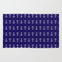 anchors Area & Throw Rugs featuring Anchors by AleDan