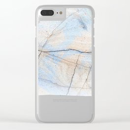 Cotton Latte Marble - Ombre blue and ivory Clear iPhone Case