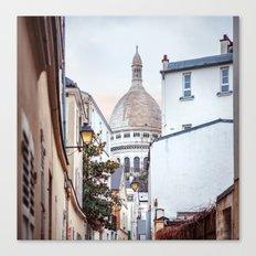 I love Montmartre, Paris. Canvas Print