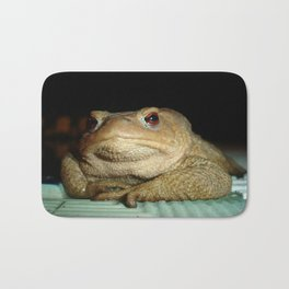 A Common Toad With Philosophical Disposition Bath Mat