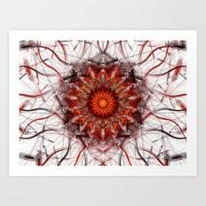 Scorching Sun Art Print