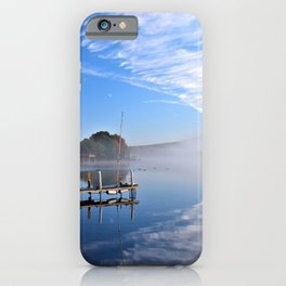 October Morning: Mergansers and Mist iPhone Case