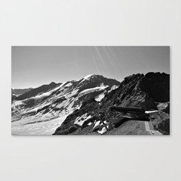 glacier end 3 kaunertal alps tyrol austria europe black white Canvas Print