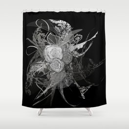 50 shades of lace Grey Silver Black Shower Curtain