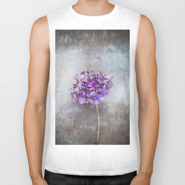 Beautiful Lilac Hydrangea Biker Tank