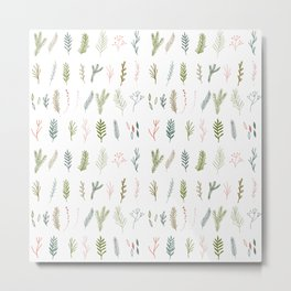 Forest branches repeat pattern. Metal Print