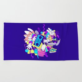 The Boys Are Back Dark Variant Beach Towel