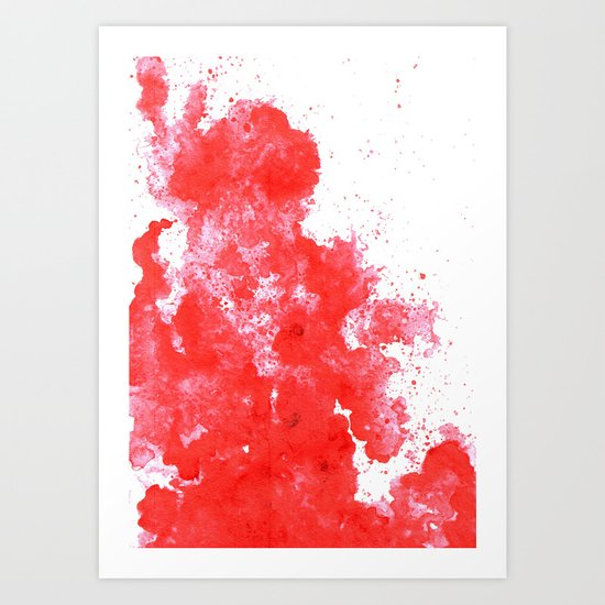 Red Stain Art Print
