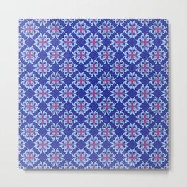 The Melting Snowflake Abstract Seamless Pattern Metal Print