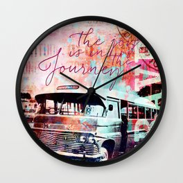 The Joy is in the Journey Wall Clock