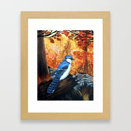Blue Jay Life Framed Art Print