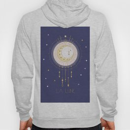 The Moon and stars - magical tarot illustration no6 Hoody