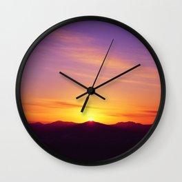 Mountains 01 Wall Clock