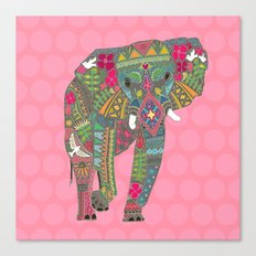 painted elephant pink spot Canvas Print