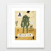 predator Framed Art Prints featuring Predator by Patrick Latimer