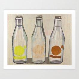 clear glass bottles Art Print