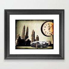 Clockman dymaxion technique Framed Art Print