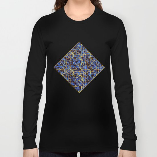 The Blue and Yellow Long Sleeve T-shirt