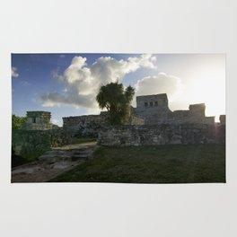 Sunrise Over Mayan Ruins Rug