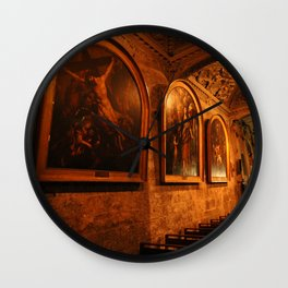Kathedrale Notre-Dame-du-Puy with 3 Rubens paintings Grasse Wall Clock