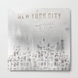 MODERN ART New York City Skylines Metal Print