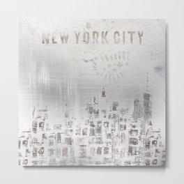 MODERN ART New York City Skylines Metal Print