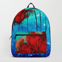 Hearts On Fire - Romantic Art By Sharon Cummings Backpack