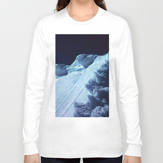 NATURE'S WONDER #2 - Glacier in the dark #art #society6 Long Sleeve T-shirt