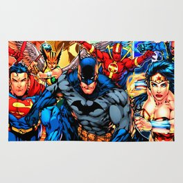 a collection of heroes Rug