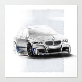 Bavarian car M5 F10 Artrace body-kit Canvas Print