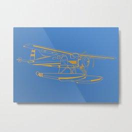 Dutone seaplane Metal Print