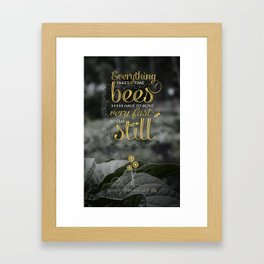 David Foster Wallace on Bees  Framed Art Print